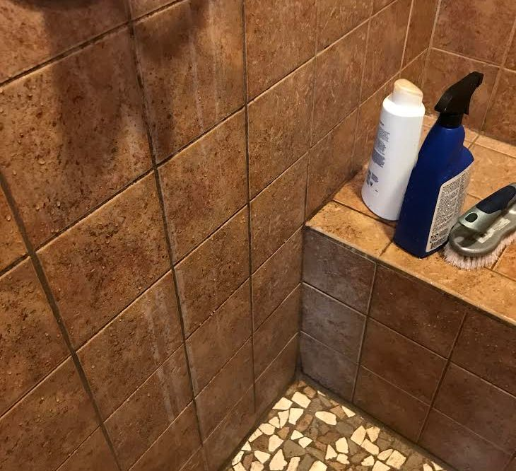 The stone in my shower is turning white. Do you have a product to ...